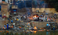 The cremation Ghats and the tradition that continues as it did centuries ago