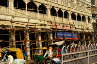 The Old Market in New Delhi--- and the scaffolding